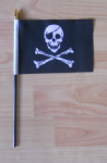 Pirate Skull and Crossbones Hand Flag - Small.